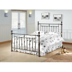 Alexander Black Nickel Metal Bed Frame