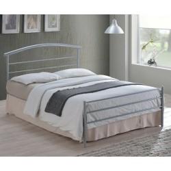 Brennington Silver Modern Metal Bed Frame