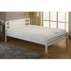 City Block White Metal Bed Frame