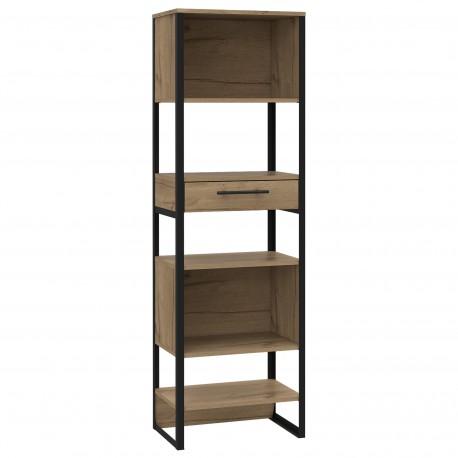 Brooklyn tall narrow bookcase, 1 drawers