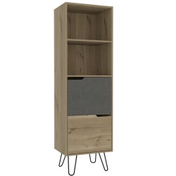 Manhatten tall bookcase, 2 drawers