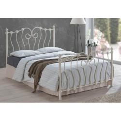 Inova Metal Bed Frame In Ivory