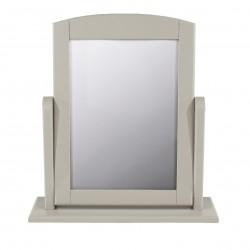 single mirror, grey finish