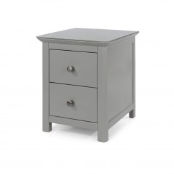 Elgin 2 drawer bedside cabinet