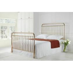 Florence Rose Gold Metal Bed Frame