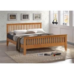 Turin Honey Oak/Pine Solid Wooden Bed Frame
