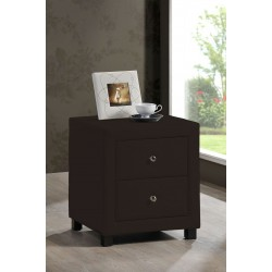 Chelsea Faux Leather Two Drawer Bedside Cabinet
