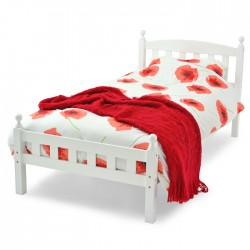 Florence White Wooden Double Bed Frame (4ft 6inch-135cm)
