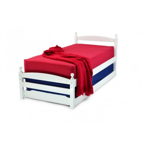 PALERMO 3'0 WHITE BED FRAME C/W GUEST BED