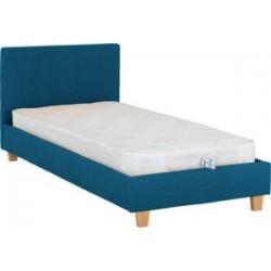 Prado 3ft-90cm Single Bed Frame Petrol Blue Fabric