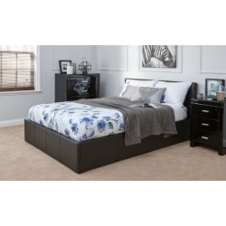 End Lift King (5ft-150cm) Ottoman Storage Bed Frame Only In Black
