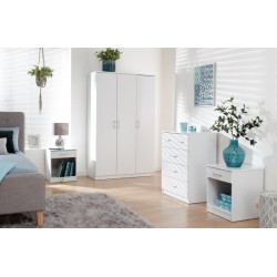 Panama 4 Piece Bedroom Furniture Sets In White