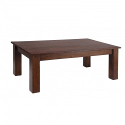 Carnival Coffee Table Solid Acacia Wood In Dark Oak