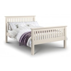 Barcelona Double (4ft 6inch-135cm) High Foot End Bed Stone White
