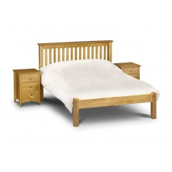 Barcelona (4ft 6inch-135cm) Bed Frame Low Foot End Pine In Double Size