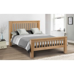 Amsterdam Solid Oak (5ft-150cm) Bed Frame High Foot End In King Size
