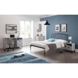 Onyx Bed Frame (3ft-90cm) Satin Grey Powder Coating In Single Size
