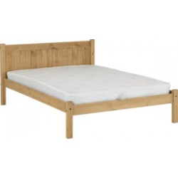 Maya Bed Frame (4ft-120cm) Distressed Waxed Pine In Small Double Size