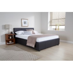 Side Lift Ottoman (4ft-120cm) Bed Frame Black Storage Bedsteads In Small Double Size