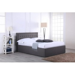 Houston Grey Fabric Ottoman (4ft 6inch-135cm) Bed Frame In Double Size