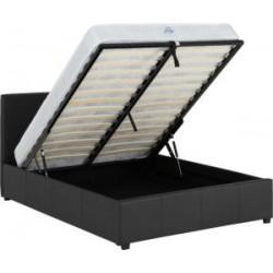 Prado Plus Storage (4ft 6inch-135cm) Double Bed Frame Black Faux Leather