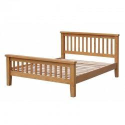 Acorn Solid Oak (4ft 6inch-135cm) Bed Frame High Footend