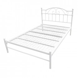 SUSSEX (4ft 6inch-135cm) Double Bed Frame In White Low Foot End & Mesh Base