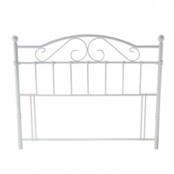 SUSSEX Metal (4ft 6inch-135cm) Double Headboard White