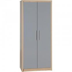 Seville 2 Door Wardrobe High Gloss in Grey