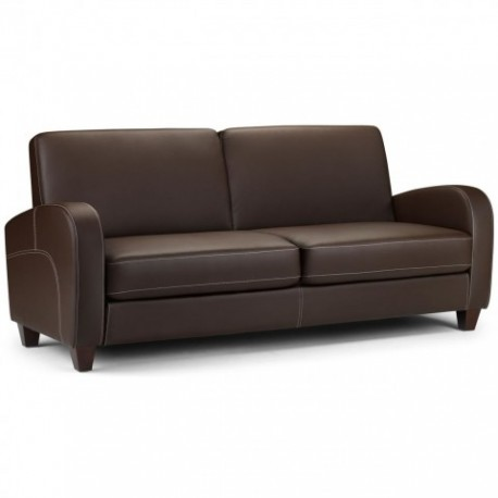 Vivo 3 Seater Sofa In Chestnut Faux Leather