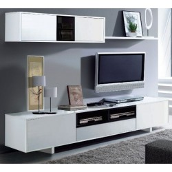 Belas White Gloss TV Complete Wall Cabinet