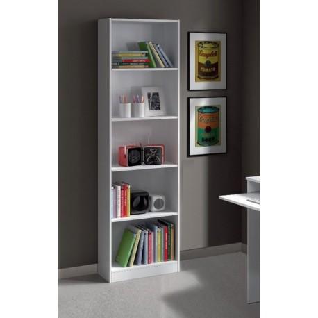 Mila White Gloss Bookcase