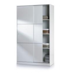 Madrid Sliding Door Wardrobe 120cm Gloss White