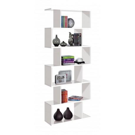 Arctic Bookcase Tall High Shine White