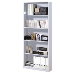 Arctic Book Shelf 5 Shelves High Shine White