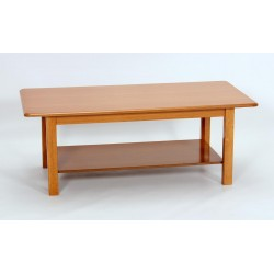 Avon Coffee Table with Shelf Golden Oak