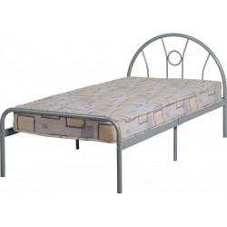 Nova 3ft-90cm Metal Bed Frame in Silver