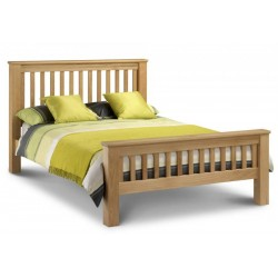 Amsterdam Oak (4ft 6inch-135cm) Bed Frame High Foot End In Double Size