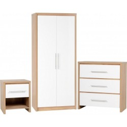 Seville Bedroom Set White High Gloss