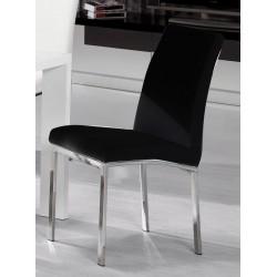 Peru PU Chair Chrome Black