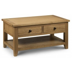 Astoria Oak Coffee Table with 2 Drawers