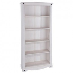 Corona White 5 Shelf Tall Bookcase